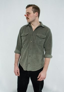 Vintage fleece button up shirt