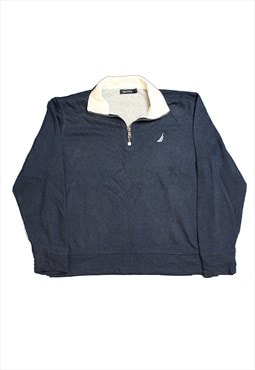 Nautica Navy 1/4 Zip Sweater