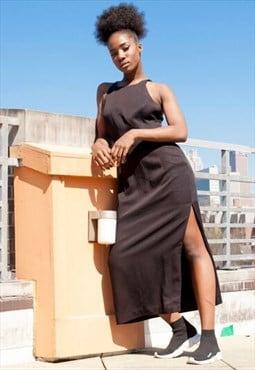 90s Designer Vintage Maxi Dress