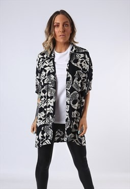 Print Patterned Shirt Oversized Fitted UK 20 - 22  (EDAI)