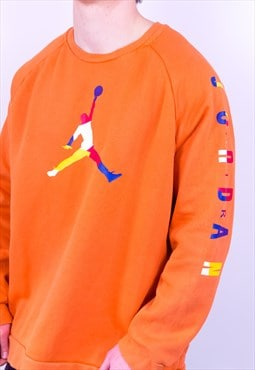 Vintage Nike Air Jordan Sweatshirt Orange XL
