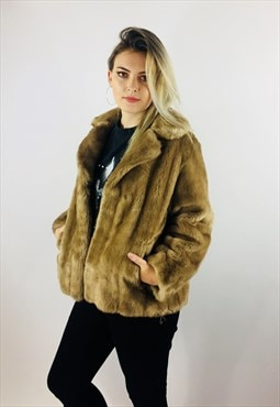 Vintage 80s Faux Fur Coat