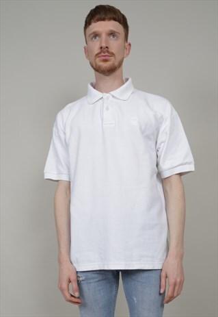 VINTAGE 90'S FILA OVERSIZED WHITE POLO T-SHIRT