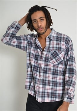 Vintage Check Flannel Shirt Grunge