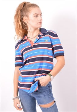 Vintage Lacoste Polo Shirt Stripes Blue