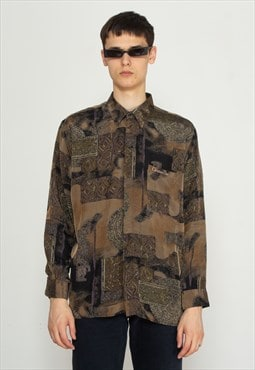 Vintage Brown CHRISTIAN DIOR Long Sleeve Shirt