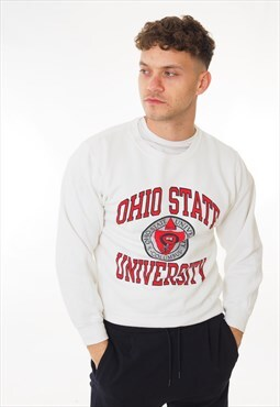 Vintage Champion Ohio State Sweatshirt White