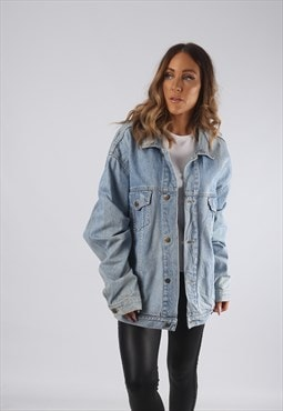 Vintage Denim Jacket Oversized Fitted UK 20 - 22 3XL (JR2C)