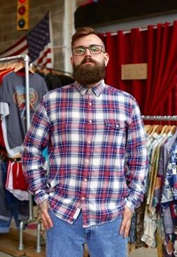 Pattern flannel Print Shirt