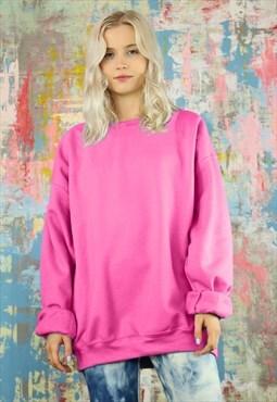 Sweatshirt in Pink Neon