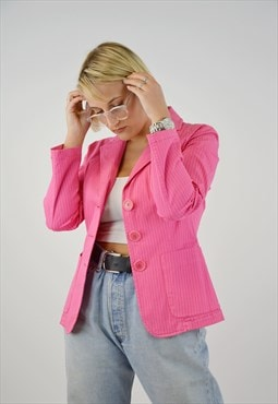 Vintage Moschino Blazer Pink Jacket for woman