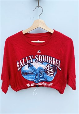 Rally Baseball Reworked Crop Top T-shirt MLB [L]