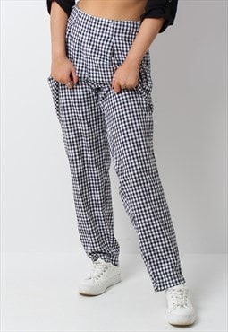Vintage 90s y2k gingham checked trousers