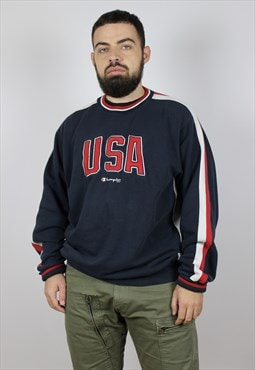 Vintage 90s Champion Sweatshirt Big Logo USA