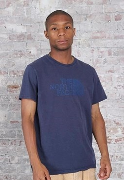 Vintage The North Face Logo T-Shirt Blue
