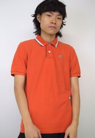 VINTAGE 90S NAPAPIJRI ORANGE POLO SHIRT