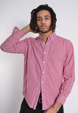 Vintate Tommy Hilfiger Long Sleeve Check Shirt Red