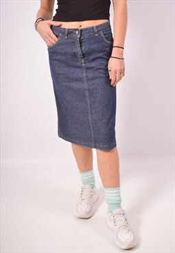 Vintage Calvin Klein Denim Skirt Blue