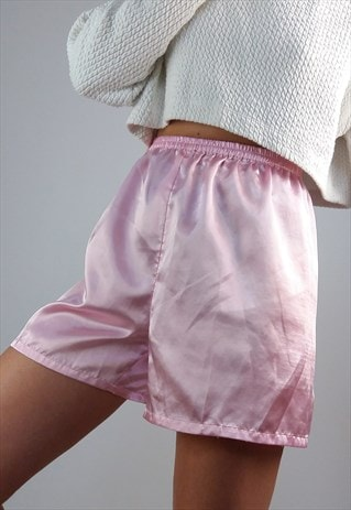 VINTAGE PYJAMA BLOOMERS / SHORTS IN  PINK