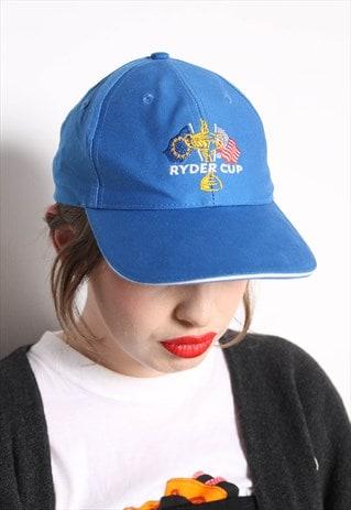 VINTAGE RYDER CUP BASEBALL CAP HAT BLUE