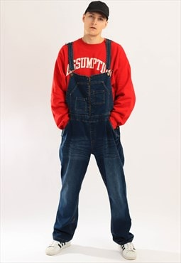 Vintage Sheego Denim Dungaress Navy