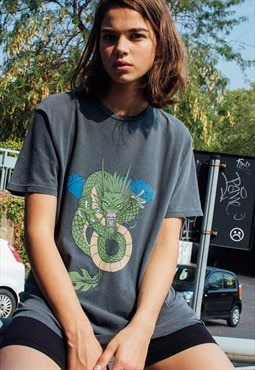 Oversized dragon t-shirt - black