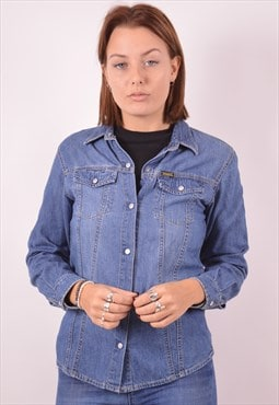 Diesel Womens Vintage Denim Shirt Medium Blue 90s