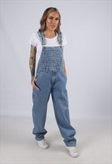 Vintage Denim Dungarees Wide Tapered Leg UK 12 M  (41J)
