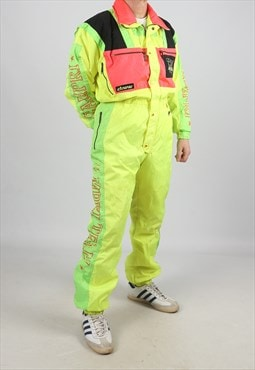 "Vintage CAMPRI Full Ski Suit Snow Sports Neon  M 40"" (ADU)"