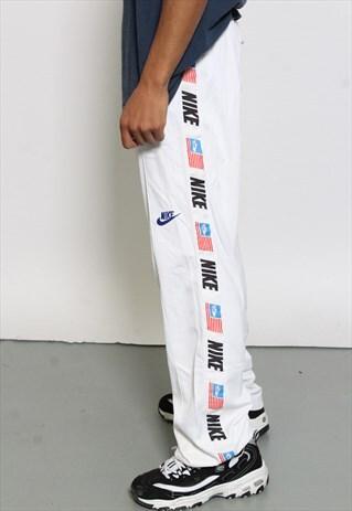 VINTAGE NIKE WHITE TRACK PANTS