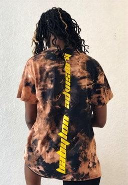 Baad t-shirt black  tie&dye BABYLON ADVISORY