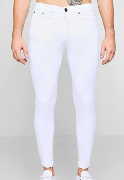 Essential Slim Max Jegging Skinny Denim Jeans - White