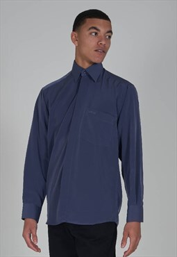 Rare 90's Versace heather grey long sleeve slinky shirt