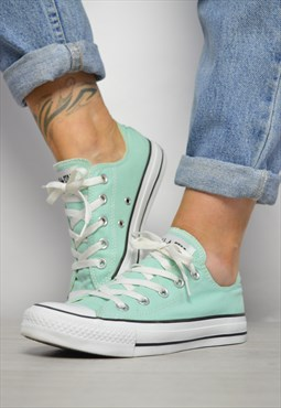 Vintage 90s Converse Mint Green Ox Shoes Low Tops Preppy