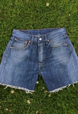 Vintage 80's 501 Button Fly Levi Bermuda Shorts