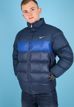 Vintage Nike Puffer Jacket in Navy and Blue NJ528