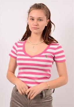 Vintage Ralph Lauren T-Shirt Top Stripes Pink