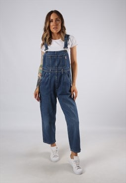 Vintage Denim Dungarees Wide Tapered PETITE UK 10  (JE4M)