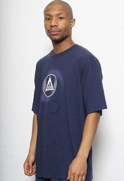 Vintage Adidas Big Logo T-Shirt Navy Blue
