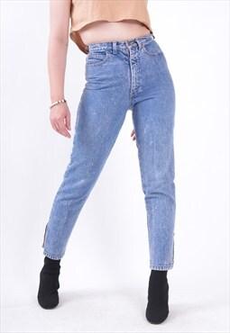 "W26"" Vintage 90's High Waist Skinny Jeans Blue"