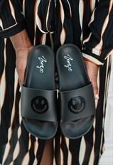 Women's Smiley Face Pool Slide Sandal