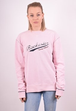 Champion Womens Vintages Sweatshirt Jumper Large Pink 90s