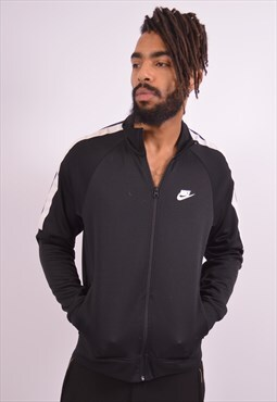 Nike Mens Vintage Tracksuit Top Jacket Medium Black 90s