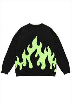 Fleece Flames Sweatshirt