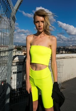 Neon Yellow Biker Shorts