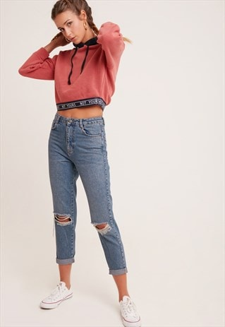 SUBDUED RIPPED BOYFRIEND JEANS