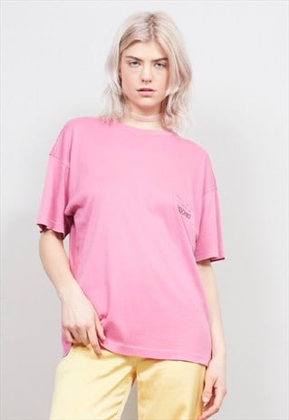 VINTAGE 90'S MOSCHINO PINK OVERSIZED T-SHIRT