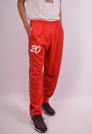 CHAMPION MENS VINTAGE TRACKSUIT TROUSERS XXL RED 90S