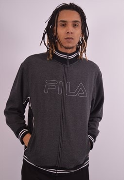 Vintage Fila Tracksuit Top Jacket Grey