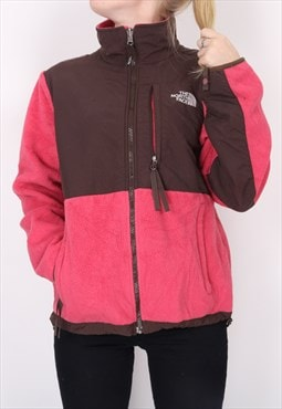 The North Face - Pink and Brown Embroidered Denali Fleece Ja